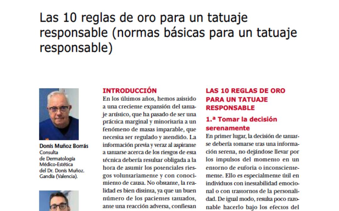 Artículo de los Dres. Donís Muñoz y José María Ortiz publicado en Más Dermatología